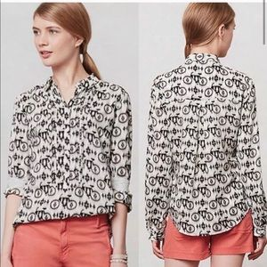 Anthropologie Maeve Ikat bicycle top